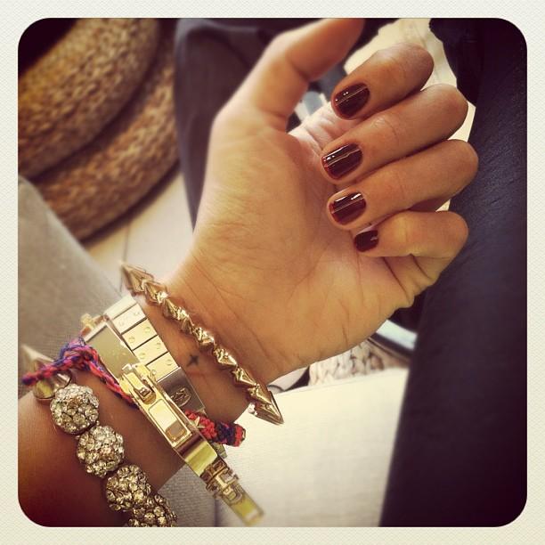 spike bracelet layered
