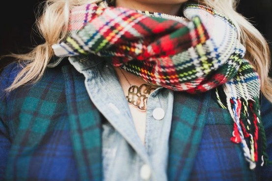 mixing plaid on plaid
