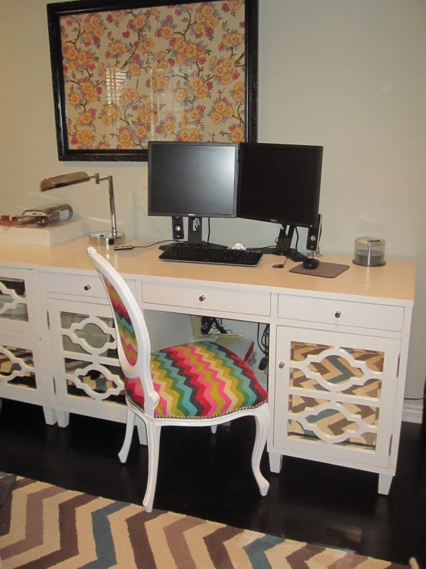 desk with new chair
