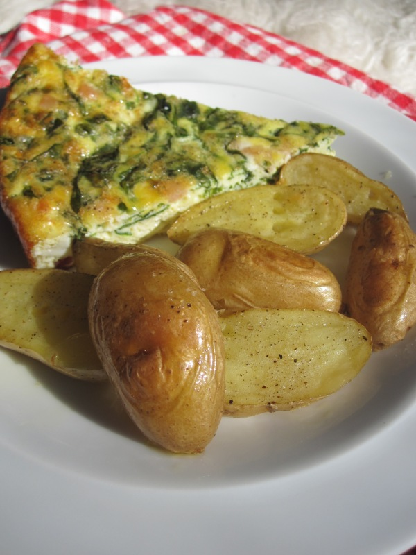 frittata with roasted potatoes
