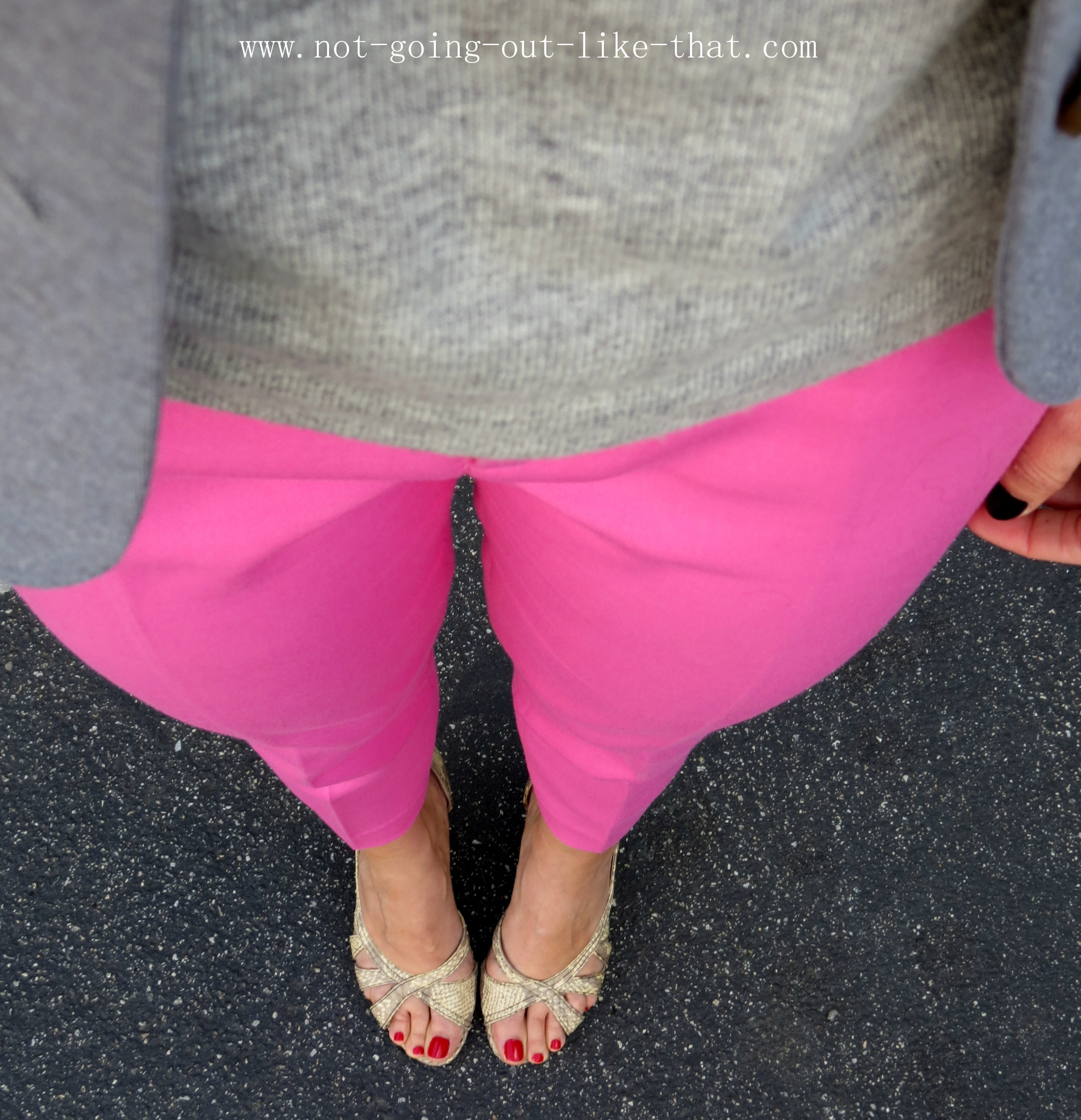Pink And Gray Heels