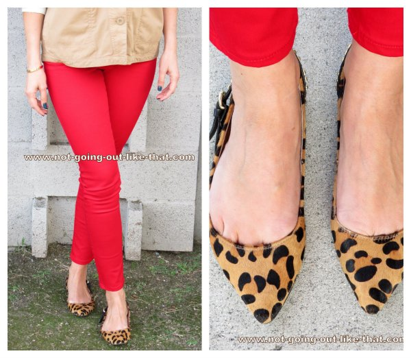 red leopard collage